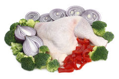 Chicken leg and vegetable Royalty Free Stock Photography