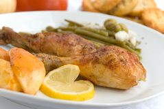 Chicken legs with asparagus Royalty Free Stock Photo