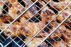 Chicken legs on a barbecue. Royalty Free Stock Photography