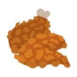 Chicken legs in cartoon style Stock Photos