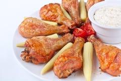 Chicken legs with cream sauce Royalty Free Stock Photos