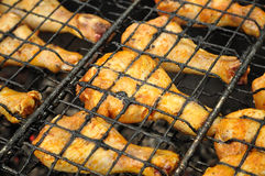Chicken Legs on Grill Stock Image