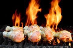 Chicken Legs On  The Hot BBQ Grill Stock Image
