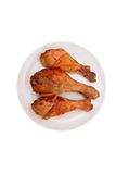 Chicken legs on the plate. Royalty Free Stock Photography