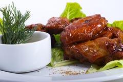Chicken legs salad Stock Image