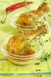 Chicken legs in sauce. From mustard and honey Royalty Free Stock Photos