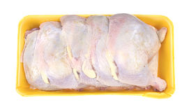 Chicken legs and thighs on meat tray Royalty Free Stock Image