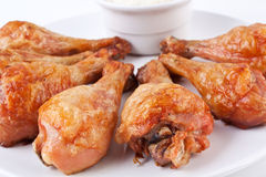 Chicken Legs With Cream Sauce Stock Photo