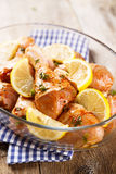 Chicken with lemon Royalty Free Stock Photography