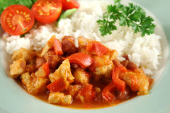 Chicken And Lentil Stew With Rice 3 Stock Photo