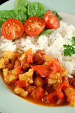 Chicken And Lentil Stew With Rice  Royalty Free Stock Images