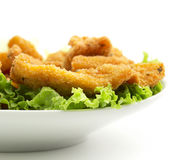 Chicken on lettuce Royalty Free Stock Photography