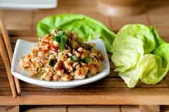 Chicken Lettuce Wraps Royalty Free Stock Photos