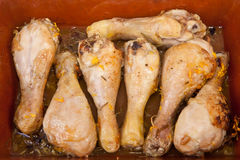 Chicken little legs with rosemary Royalty Free Stock Photography