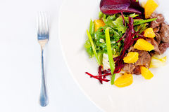 Chicken Liver and Beet-Root Salad Royalty Free Stock Photography