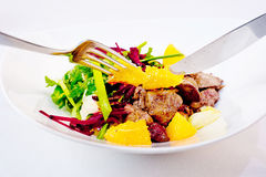 Chicken Liver and Beet-Root Salad Royalty Free Stock Photos