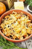 Chicken liver baked with pumpkin and cheese Royalty Free Stock Photography