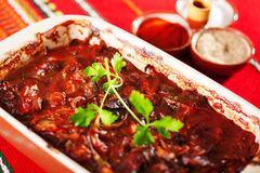 Chicken liver casserole Royalty Free Stock Images