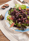 Chicken liver and fig salad Royalty Free Stock Photo