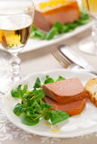 Chicken liver pate. With orange jelly for holiday royalty free stock image