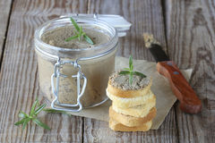 Chicken liver pate Royalty Free Stock Images
