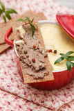 Chicken liver pate Royalty Free Stock Image