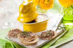Chicken liver pate Royalty Free Stock Photos