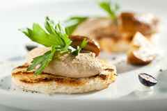 Chicken Liver Pate with Bread Stock Images