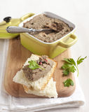 Chicken liver pate Stock Photo