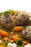 Chicken liver pate in the form of a hedgehog Royalty Free Stock Photography