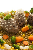 Chicken liver pate in the form of a hedgehog Stock Image
