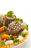 Chicken liver pate in the form of a hedgehog Royalty Free Stock Photos