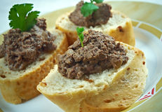 Chicken liver pate Royalty Free Stock Photography