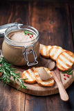 Chicken liver pate Stock Photography