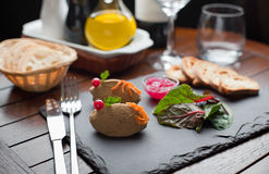 Chicken Liver Pate with Onion Marmalade dish Royalty Free Stock Photo