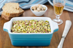 Chicken liver pate with pistachios Royalty Free Stock Photography