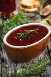 Chicken liver pate with red wine jelly Stock Images