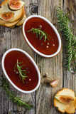 Chicken liver pate with red wine jelly Royalty Free Stock Photos