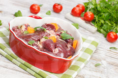 Chicken liver Stock Image