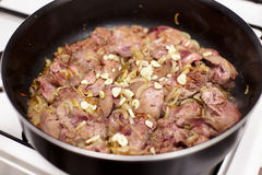 Chicken liver roasted Stock Photography