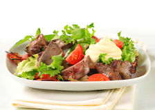 Chicken liver salad Royalty Free Stock Photos