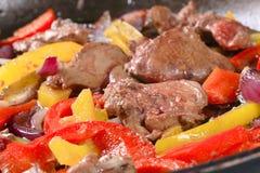 Chicken liver stir fry Stock Photos