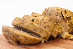Chicken liver stuffing on the plate Royalty Free Stock Photos