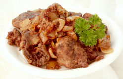 Chicken livers Stock Photos