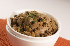Chicken Livers. Cooked in peri peri Stock Images