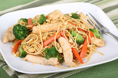 Free Chicken Lo Mein Royalty Free Stock Photo - 18010695
