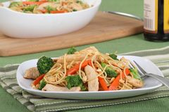 Chicken Lo Mein Meal Stock Images