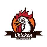 Chicken logo stock. Chicken farm logo. Rooster logo Royalty Free Stock Photography