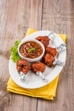 Chicken lollipop or chicken winglet Royalty Free Stock Photo