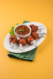Chicken lollipop or chicken winglet Royalty Free Stock Photos